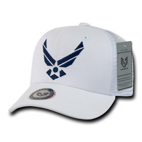 Rapiddominance Air Force Back to The Basics Mesh Cap, White
