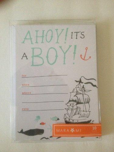 Baby boy announcement cards by Mara-Mi [並行輸入品]   B01AL00QG6