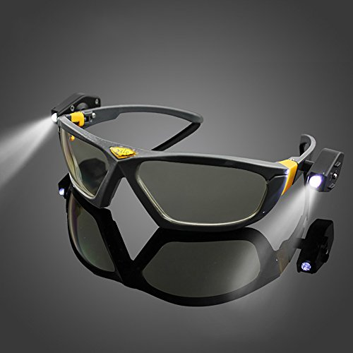 LED Safety Glasses Night Vision Goggles Industrial Work Safety Night Reading Outdoor Cycling Eye - Virtual Mirror Eyeglasses