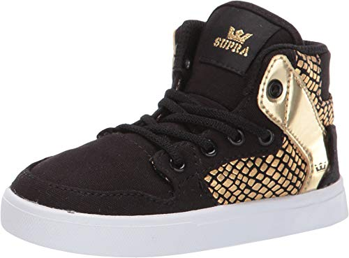 - Supra Kids Baby Boy's Vaider (Toddler) Black/Gold/White 9 M US Toddler