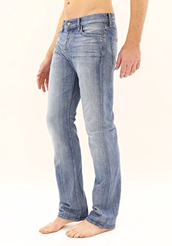 7 For All Mankind Men's Standard Classic Straight Leg Jean, Ivory Coast, (Standard Straight Leg Jeans)