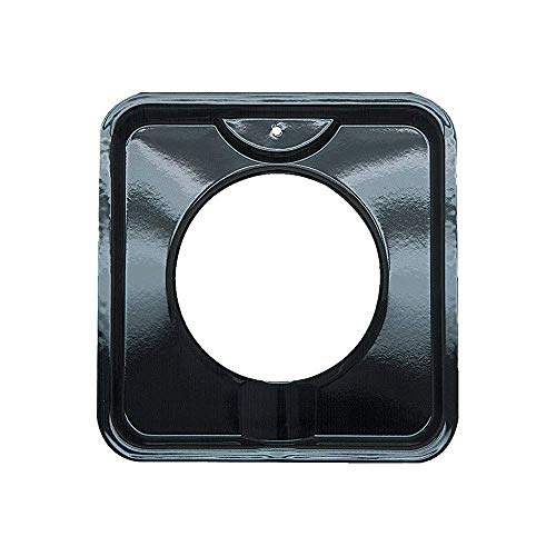 (Range Kleen P400 Black Porcelain Square Style I Gas Drip Pan 7.75 Inches )