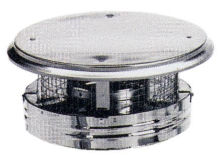 Simpson Duravent 8DP-VC DuraPlus Collection Class-A Chimney Pipe Chimney Cap With Spark Arrestor, Stainless Steel, Removable Screws, 8'' Inner Diameter, 14'' Outer Diameter, 8'' Height by DuraVent