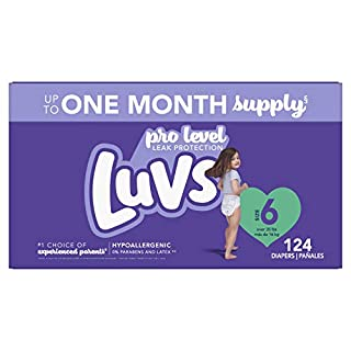 Luvs Pro Level Leak Protection Diapers Size 6 124 Count