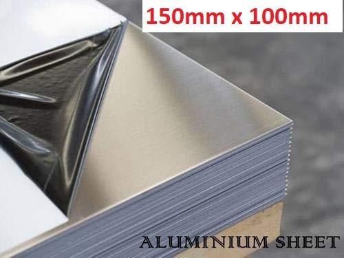 150mm x 100mm x 2mm Feuille daluminium de 2 mm de 2 mm de diff/érentes tailles