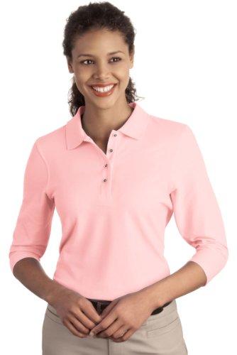 Port Authority Womens Silk Touch 3/4-Sleeve Sport Shirt. L562 - Light Pink L562 3XL