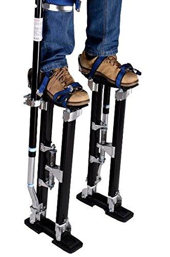 K&A Company Drywall Stilts Aluminum Painting Painter Taping Tool Stilt Black Us Walk 227 LBS Capacity Aluminum
