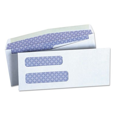 Universal 36300 Double Window Check Envelope, 8 5/8, 3 5/8 x 8 5/8, White (Box of 500)