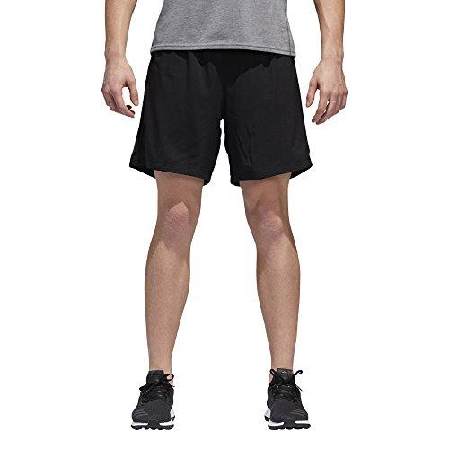 adidas Mens Running Response Shorts, Black/Black, Medium/7