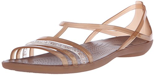 Crocs Isabella Sandal W, Chaussures à Bouts Ouverts Femme, Island Green Bronze