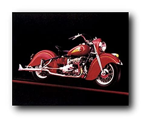 Amazon.com: clásico Red Indian Motorcycle Road Master Decor ...