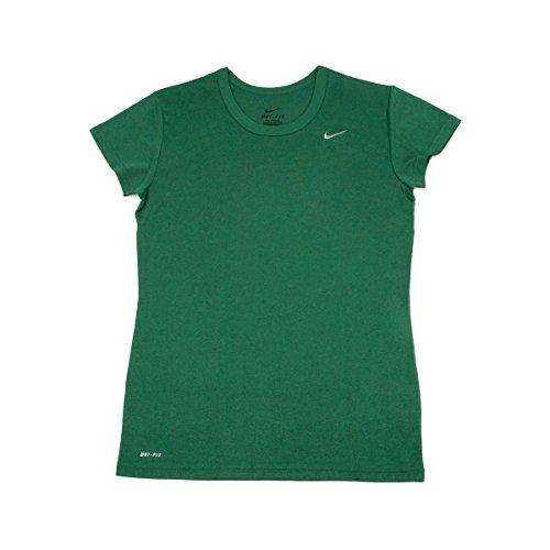 - Nike Women's Short Sleeve Performance Tee Shirt Green - Medium