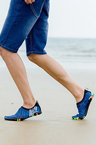 Aqua Shoe Blue Dry Shoes Women Men Barefoot Quick Water Socks YACUN for xRYTOZw