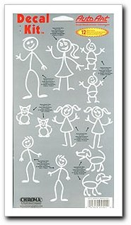 Stick Family Decal Kit
