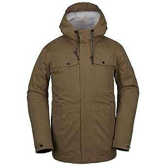 Volcom Men's V.CO 3L Rain Snow Jacket, Moss, Small