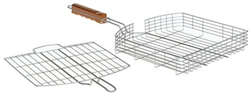 Mr. Bar-B-Q Oversized Silver Nonstick Grilling Basket - coolthings.us