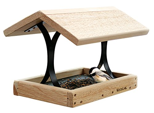 Woodlink Cedar Fly-Thru Bird Feeder, Cedar