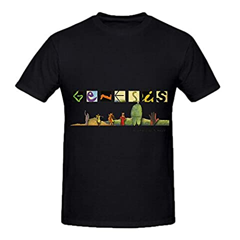 Genesis 14 From Our Past Tracks Mens Crew Neck Music Tee Shirts Black - New Mens Southern Thread