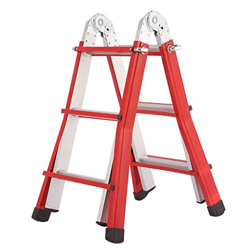 Heavy-Duty-Little-Giant-Ladders-Aluminum-Portable-Extension-Ladder-Red-150kg-3M41M-34-Rung-Size-3-Step