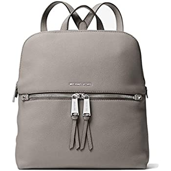 4ea645a035ecd ... where can i buy michael michael kors rhea zip medium slim backpack  pearl grey 8e944 4e9b7