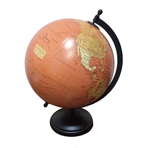 Home Decor Political Word Globe Desktop Ocean Globe Iron Stand Big Rotating Globe 11