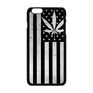 Generic Mobile Phone Cases Cover for Iphone 6 Plus Case 5.5 Inch Case Country American Flag Marijuana Cannabis Weed Hemp Leaf Smoker Design Custom Made Hard Snap on Cell Phones Shell Protect Skin