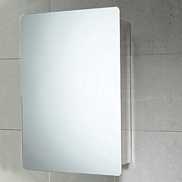 Pensile Specchio Contenitore Per Bagno.Specchio Contenitore Da Bagno Con Anta Scorrevole In Acciaio 46x66x12 Cm