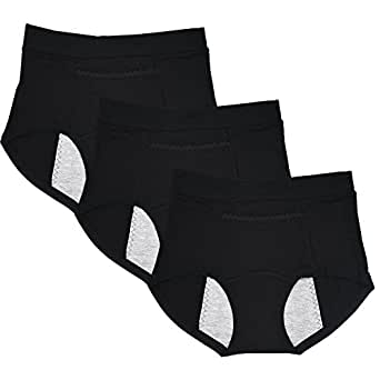 Sept.Filles Women's Invisible Panties Cycles-Period Leakproof Packs of 3 (3 Pcs Black)