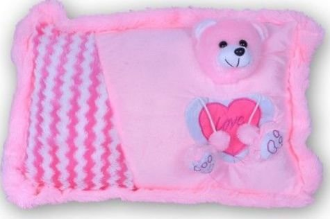 Softies Soft Stuffing Cute Looking Pillows (Pink)