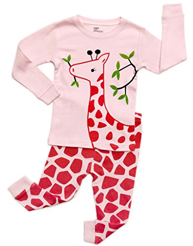 (DinoDee Giraffe 2 Piece Pajama Set 100% Cotton 4 Years)