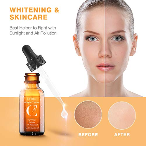 414W8nR3 gL - 30% Vitamin C Serum with Hyaluronic Acid & VE for Face,Neck and Eye Treatment Serums | Anti-Aging, Anti-Wrinkle,Instant Moisturizers,Whitening Dark Spots Facial Serum Fits All Skin Type(1 fl.oz)