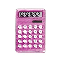StealStreet 4231-PINK Pink Solar and Battery Powered Calculator