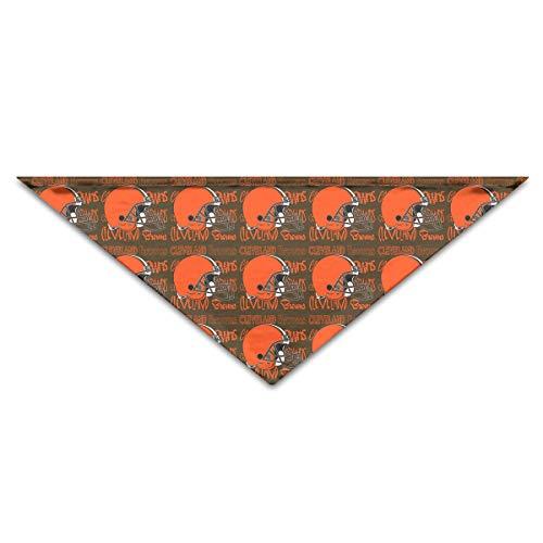 Marrytiny Custom Dog Triangle Pet Scarf Cleveland Browns Football Team Bandana Collars 100% Polyester Pet Dog Cat Bibs Triangle Head Scarfs Accessories -