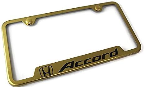 Honda Mirrored Gold Stainless Steel License Plate Frame