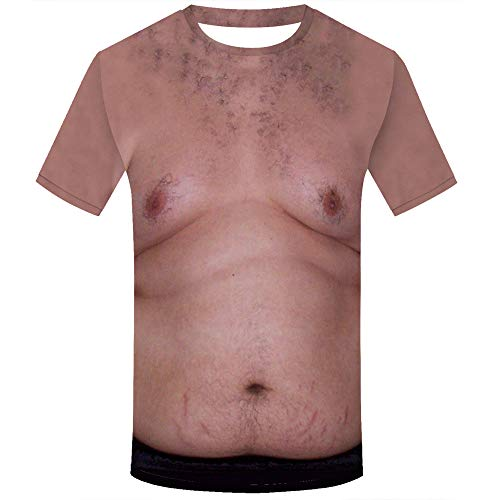Unisex Holiday Shirt Rude Stag Party Fancy Dress 3D Offensive Boobs Printed Tee ()