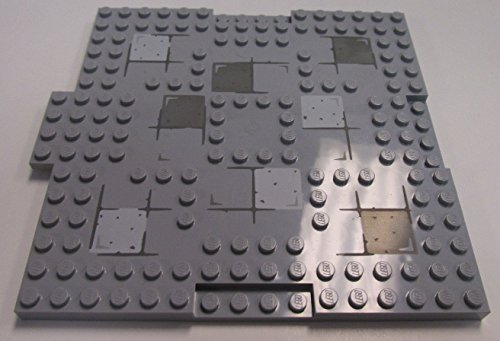 LEGO ~ NEWLY REFURBISHED/RECYCLED/PRE-OWNED~ 16x16 (dot sized) Plate ~ Light Grey~ Thick Baseplate with Stone Pattern. (Fig Pattern Plate)