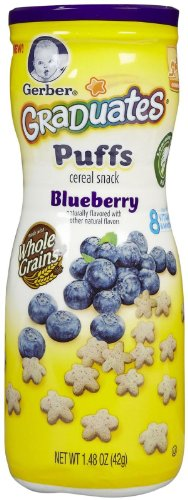 Gerber Crawler Stage Puffs Snack Pack with Active Cup Blue