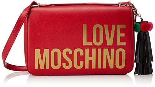 Love Moschino Borsa Grain Pu Rosso, Sacs portés épaule femme, Rouge (Red), 6x19x30 cm (B x H T)