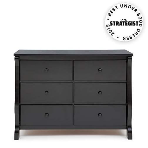 Delta Children Universal 6 Drawer Dresser, Black