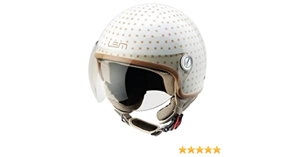 Casco Moto LEM - Roger Dusty, BEIGE/ORO BRILLO (L)