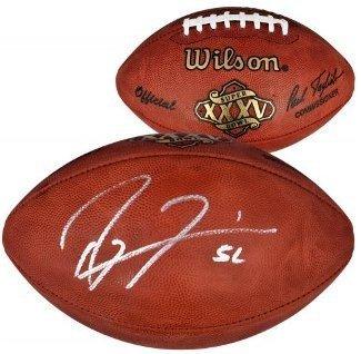 Ray Lewis Signed Autograph Official NFL New Duke Super Bowl XXXV Logo Football #52 - Baltimore Ravens- SB - Logo New Rays