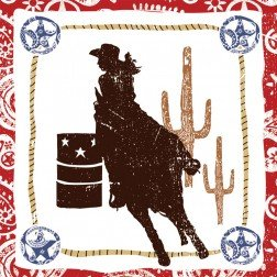 Western Lasso Cowgirl Lunch Napkins (16 count) Party Accessory Western Lunch