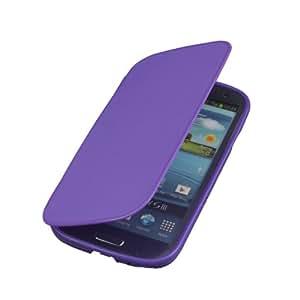 Purple soft plastic silicome pouch flip case cover for Samsung Galaxy s3 i9300