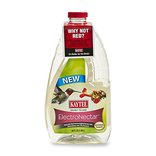 Kaytee 100506148 Electro Nectar Ready to Use Hummingbird Food, 64 oz.