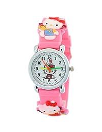 TimerMall Original Fashion Cartoon Hello Kitty Rubber Digital Pink Watches