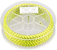 50m 30LB Braided Fishing Line 8 Strands Stretch Elastic Yards Backing Line Multi Color Fly Trout Cord Outdoor