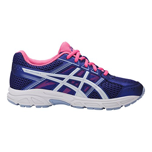 Price comparison product image ASICS Unisex-Kids Gel-Contend 4 GS Running Shoe, Blue Purple/White/Airy Blue, 1.5 Medium US Big Kid