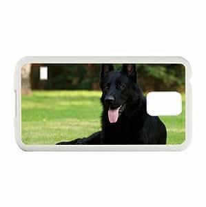 Personalized Samsung Galaxy S5 Case,Custom Samsung SV Back Cover Diy PC Hard Shell Case Dog White