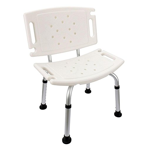 TSAR003 Aluminum Alloy Bathroom Shower Chair, Invisible Handrail, With Backrest, Shower Head Card, Adjustable Height, Especially For The Elderly, Children, Pregnant Women, 220 Pounds Load , C by TSAR003