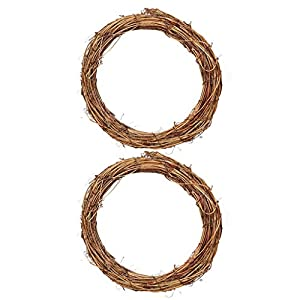 Flameer 2X Perfect Front Decoration for Home Garden Wreath Grapevine Garland 25/15cm 5